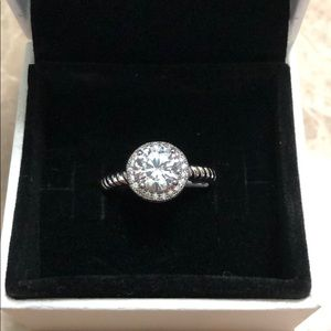Size 9 sterling silver ring
